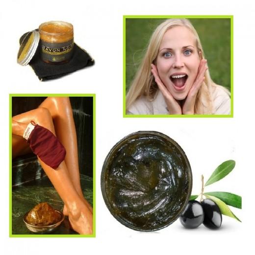 Savon Noir Exfoliant 100% Naturel (sans graisse animale)