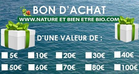 Chèque cadeau nature et bien être Bio